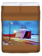 Philip R.clarke West Pier Sault Ste.marie Michigan -3124 Duvet Cover