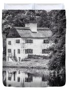Philipsburg Manor House - Reflections - Bw Duvet Cover