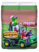 Phillie Phanatic Hot Dog Shooter Duvet Cover