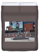 Phillies Steve Carlton Statue Duvet Cover