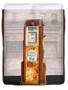 Phillips 66 Antique Gas Pump Duvet Cover