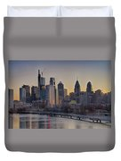 Philly Before Dawn From South Street Duvet Cover