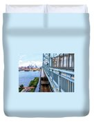 Philly From The Bridge Duvet Cover