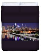Philly In Panoramic View Duvet Cover