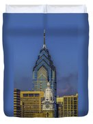 Philly Skyline-old And New Duvet Cover
