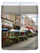 Philly's Italian Market Duvet Cover