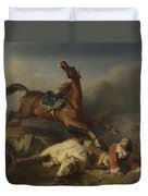 Philogene Tschaggeny   An Episode On The Field Of Battle Duvet Cover