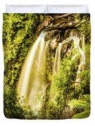 Philosopher Falls, Western Tasmania Duvet Cover