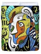 Philosopher Duvet Cover