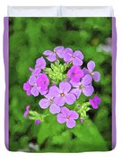Phlox For You Duvet Cover