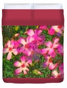 Phlox Fun - Pink Glow Duvet Cover