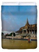 Phnom Penh Royal Palace Plaza Duvet Cover