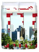 Phoenix City Skyline Duvet Cover
