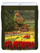 Phoenix In Summer Palace Duvet Cover