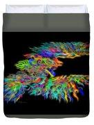 Phoenix Rising Electric Fractal Duvet Cover