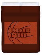 Phoenix Suns Leather Art Duvet Cover