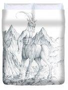 Pholus The Centauras Duvet Cover