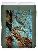 Line In The Rock Duvet Cover
