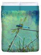 Photo Painted Dragonfly Duvet Cover