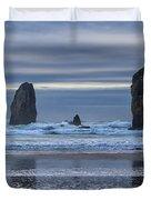 Photographer At Cannon Beach Duvet Cover