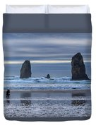 Photographer At Cannon Beach Duvet Cover