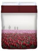 Photographers In The Mist Duvet Cover