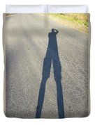 Photographers Shadow Duvet Cover