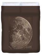 Photographie De La Lune A Son 1er Quartier Duvet Cover