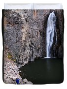 Photographing Porcupine Falls Duvet Cover