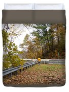Photographing Scenery Duvet Cover