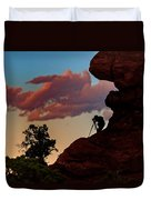 Photographing The Landscape Duvet Cover