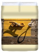 Pi Theta Shadows - Dock Cleat And Rope Duvet Cover