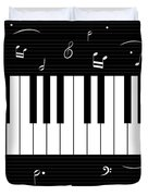 Piano And Music Background Duvet Cover