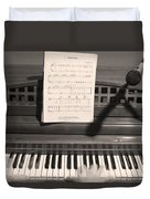 Piano Man Duvet Cover