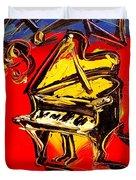 Piano Music Jazz Duvet Cover