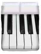 Piano Octave  Bw Duvet Cover