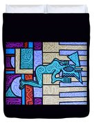 Piano Player Duvet Cover