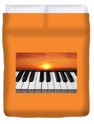 Piano Sunset Duvet Cover