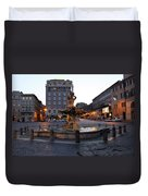 Piazza At Night Duvet Cover