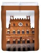 Piazza Del Campo Tuscany Italy Duvet Cover