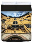 Piazza Dell'anfiteatro, Lucca, Italy Duvet Cover