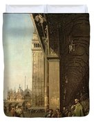 Piazza Di San Marco And The Colonnade Of The Procuratie Nuove Duvet Cover
