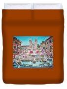 Piazza Di Spagna Duvet Cover