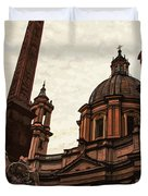 Piazza Navona At Sunset, Rome Duvet Cover