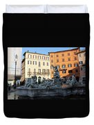 Piazza Navona Rome Duvet Cover