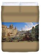 Piazza Novona - Rome Duvet Cover