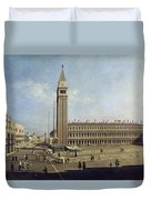 Piazza San Marco Venice  Duvet Cover by Canaletto