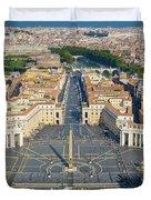 Piazza San Pietro Duvet Cover