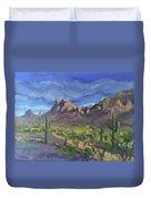 Picacho Peak Duvet Cover