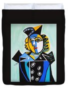 Picasso By Nora  The Queen Duvet Cover